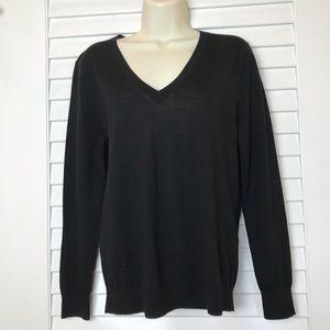NWT Banana Republic Black Merino Wool Sweater